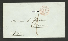 """LAC / Cachet Entrée """" OUTRE MER - LE HAVRE """" / 12.02.1844 - Marcophilie (Lettres)"""