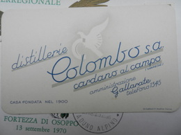 18244) GALLARATE VARESE DISTILLERIE COLOMBO CARDANO AL CAMPO OTTIMO STATO 12 X 7,5 Cm - Altre Collezioni
