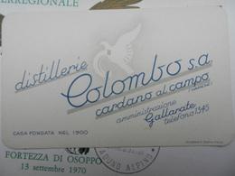 18244) GALLARATE VARESE DISTILLERIE COLOMBO CARDANO AL CAMPO OTTIMO STATO 12 X 7,5 Cm - Other Collections