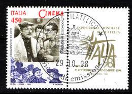ITALIA  1998 Cinema: Eduardo De Filippo Con Bandella / Used 1° Giorno - 6. 1946-.. República