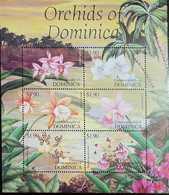 O) 2004 DOMINICA, ORCHIDS - LAELIA -CAULARTHRON -CATTLEYA-WARNERI-ONCIDIUM-PSYCHLIS-MNH - Dominica (1978-...)