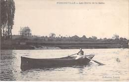 78 - PORCHEVILLE : Les Bords De La Seine ( Bon Plan Barque En 1er Plan ) CPA - Yvelines - Porcheville