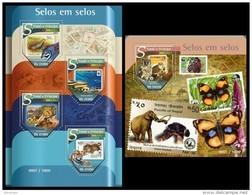 S. TOME & PRINCIPE 2015 - WWF On Stamps - YT 5167-70 + BF893 - W.W.F.