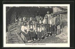 CPA Ruthenengruppe In Volkstracht, Karpaten - Ethnics