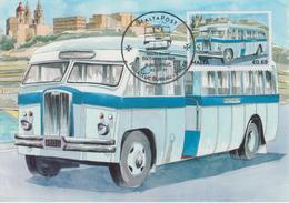 Malta Maximum Card 31 Mi 1680 Buses - The End Of An Era - Thornycroft Sturdy ZE, Mellieha - Malta