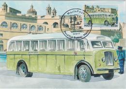 Malta Maximum Card 32 Mi 1681 Buses - The End Of An Era - Bedford QL, Cospicua - Malta