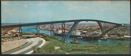 °°° GF568 - CURACAO NETHERLANDS ANTILLES - NEW BRIDGE OF WILLEMSTAD - 1975 With Stamps °°° - Curaçao