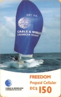 Antigua And Barbuda - GSM Refill, Freedom, Regatta, Sailing, Caribbean Cellular, 150 EC$, Used As Scan - Antigua And Barbuda