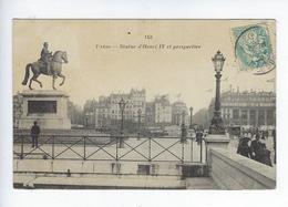 CPA Paris Statue D'Henri IV Et Perspective 143 - Statues