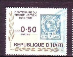 Haïti, Haitia, Timbre Sur Timbre, Stamp On Stamp, Olivier, Oliver - Sellos Sobre Sellos