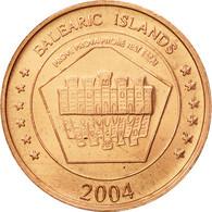 Espagne, Medal, Essai 5 Cents, 2004, SPL, Cuivre - Spain