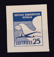 DDR 1950 Luftpostmarke Probedruck, (*), Gepr. Gerhard - [6] République Démocratique