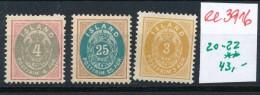 Island  Nr.  20-22  **  (ee3916    ) Siehe Scan  ! - 1918-1944 Administration Autonome