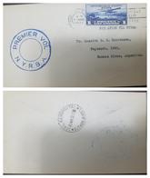 O) 1930 HAITI, COFFEE - PLANE OVER PORT AU PRINCE SCOTT C4 1g. ULTRA. POR AVION VIA NYRBA.RARE FLIGHT- FROM PORT AU PRIN - Haiti