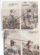 Les Saisons(Lot De 8 Cartes Précurseurs)Messidor-Prairial-Floreal-Germinal-Pluviose-Nivose-Ventose-Primaire - Women