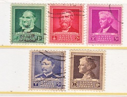 U.S.  874-8  (o)  FAMOUS  AMERS.  SCIENTISTS - Used Stamps