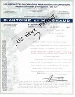02 - Aisne - ST-QUENTIN - Facture ANTOINE & ARNAUD - Imprimerie, Chaussures, Chapellerie - 1935 - REF 106A - France