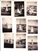 SANTA MARGHERITA LIGURE - LOTTO DI 9 FOTO DEL 1955 CON DIDASCALIA - Lieux
