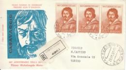 1960 - CARAVAGGIO - FDC VENETIA - 6. 1946-.. Repubblica