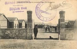 COLOMB BECHAR ENTREE PRINCIPALE DU CAMP MOLL SENEGALAIS AVEC CACHET BATAILLON TIRAILLEURS - Bechar (Colomb Béchar)