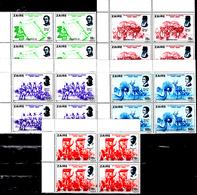 Zaïre 1003 / 07 150e Anniversaire De L'Indépendance De La Belgique ( Blocs De 4 ) - Zaïre