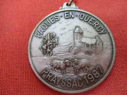 Médaille  De Sport / Cyclisme/  Pâques En QUERCY/ PRAYSSAC/ /1987          SPO303 - Cyclisme