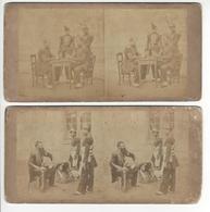 2 Stéréos PHOTO STEREO PLAUT Circa 1860 Militaria /FREE SHIPPING REGISTERED - Fotos Estereoscópicas