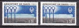 France 1283 Variété Bâtiment Blanc Et Normal Orly Neuf ** TB MNH Sin Charnela - Variedades Y Curiosidades