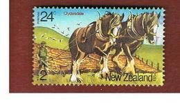 NUOVA ZELANDA (NEW ZEALAND) - SG 1345 -  1984 HEALTH STAMPS: HORSES        -  USED° - Used Stamps