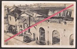 LE HAVRE - Usine Pates Alimentaires BERTRAND Après Bombardement & Bureau Concierge _ Quartier De L'Eure_ Photo Originale - War, Military