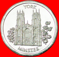 # YORK MINSTER: GREAT BRITAIN ★ 50 PENCE NATIONAL TRANSPORT TOKEN MINT LUSTER! LOW START ★ NO RESERVE! - Professionals/Firms