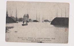 PETIT WILLEBROEK RUPTURE DES DIGNUES 1906 - Willebroek