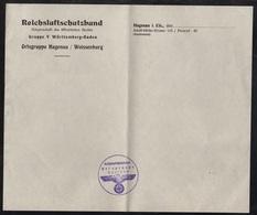 III REICH - ALSACE  - HAGUENAU - WISSEMBOURG - WWII / REICHSLUFTSCHUTZBUND PAPIER A LETTRES & CACHET  (ref 3378) - 1939-45