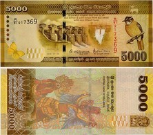 SRI LANKA        5000 Rupees       P-128d       4.7.2016     UNC - Sri Lanka