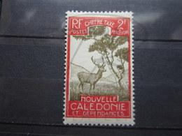 VEND BEAU TIMBRE TAXE DE NOUVELLE - CALEDONIE N ° 37 , X !!! - Portomarken
