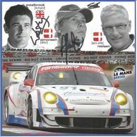 Carte TEAM FARNBACHER RACING ( PORSCHE 911 GT3 RSR ) Dédicacée Par Les Pilotes - 1000 KM De SPA 2008 - Authographs
