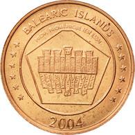 Espagne, Medal, Essai 2 Cents, 2004, SPL, Cuivre - Spain