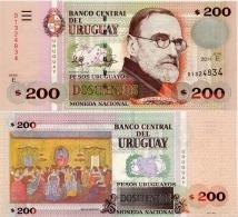 URUGUAY      200 Pesos Urug.    P-89c      2011       UNC - Uruguay