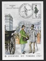 FRANCE CP 1967 JOURNEE DU TIMBRE  N° 1516 CàD GF FDC CHOLET (49) R/V - France