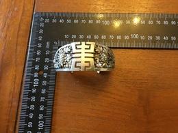Ancien Bracelet En Argent Asiatique  DuXIXeme - Bracelets