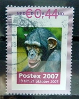 2007 Netherlands Postex,aap,monkey,affen Used/gebruikt/oblitere - Niederlande