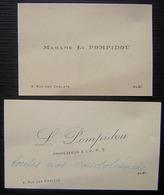 Léon Pompidou (père Du Président Georges Pompidou) Carte De Condoléances écrite Et Signée De Sa Main à Albi - Autographes