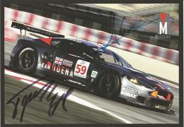 Carte TEAM MODENA ( ASTON MARTIN DBR9 ) Dédicacée Par Les Pilotes   - Endurance 1000 KM De SPA 2008 - Autographes