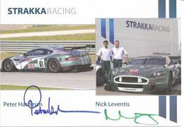 Carte TEAM STRAKKA RACING ( ASTON MARTIN DBR9 ) Dédicacée Par Les Pilotes   - Endurance 1000 KM De SPA 2008 - Autographes