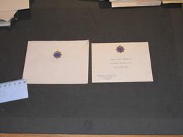 INDIA - NEW DELHI - ROYAL ARMY SERVICE CORPS - MAJOR H.J. HARRIS  Carton De Voeux. Insigne Ordrec De La Jarretière - Fêtes - Voeux