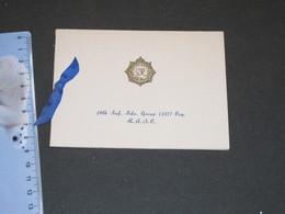 INDIA - NEW DELHI - ROYAL ARMY SERVICE CORPS -29TH INF.BDE. GROUP. - CHRISTMAS 1940 -Ordre De La Jarretière - Fêtes - Voeux