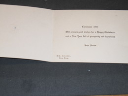 HONG-KONG - H.Q. ROYAL ARMY SERVICE CORPS -JOHN HARRIS - VOEUX 1945 -Ordre De La Jarretière - Fêtes - Voeux