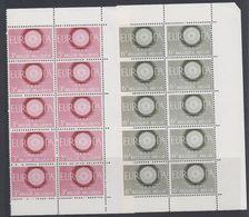 Europa Cept 1960  Belgium 2v Bl Of 10  ** Mnh (40321) - 1960