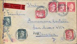 37537 Germany Reich,circuled  Cover 1943 From Nurnberg To Venezia, Censured - Deutschland