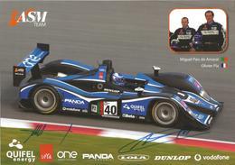 Carte TEAM QUIFEL ASM ( LOLA B05/40 AER ) Dédicacée Par Les Pilotes   - Endurance 1000 KM De SPA 2008 - Autographes